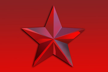 Red star on a red background.