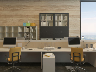 Work Stations in Modern Office