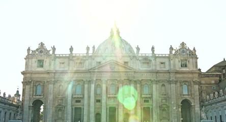 ROME - CIRCA 2014: Saint Peter Square San Pietro Cathedral  view