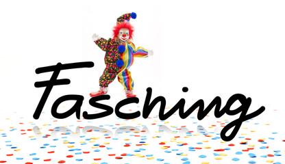 Fasching mit Clown