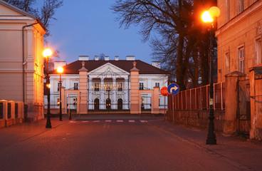 Oginski Palace in Siedlce. Poland