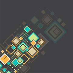 Vector grunge retro square background.