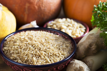 Healthy Brown Rice Still Life