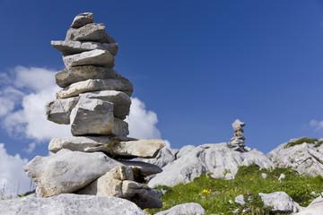 Steinmännchen in den Bergen