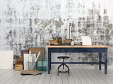 Interior of an artist or designer studio