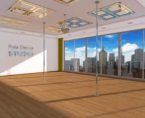 Interior the dance studio