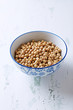 Soy beans in a ceramic bowl