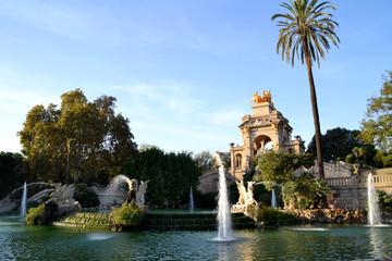 Fountain in Parc de la Ciutadella, in Barcelona, Spain