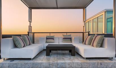 Relax coner on condominium roof top