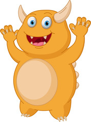 Cute Yellow monster cartoon