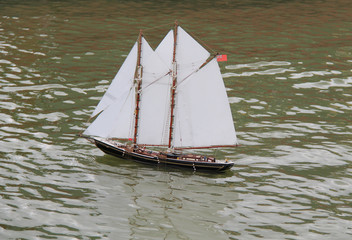 A Radio Controlled Model of a Sailing Ship.