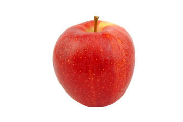Red Royal Gala apple isolated on white.