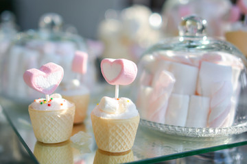 sweet heart marshmallow