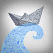 Paper Boat Business Concept