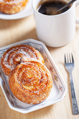 coconut snail pastry for breakfast