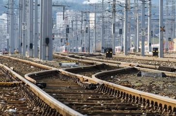 Schienen - Zugverkehr