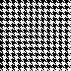 Seamless Houndstooth Pattern Black/White