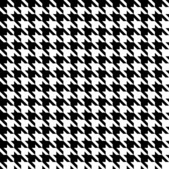 Seamless Houndstooth Pattern Black/White