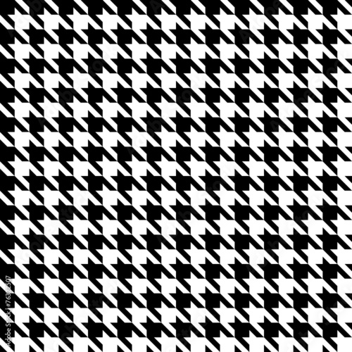 Seamless Houndstooth Pattern Black/White - 76322507