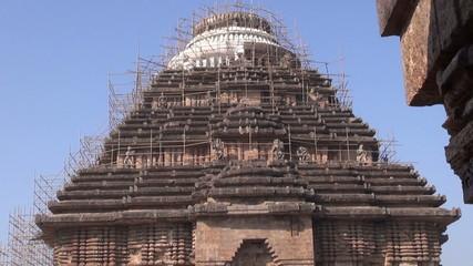 Ancient temple of the Sun God in Konark, Odisha, India