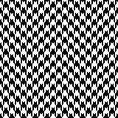 Seamless Houndstooth Pattern Black/White Vertical