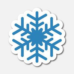 Logo froid. Neige.