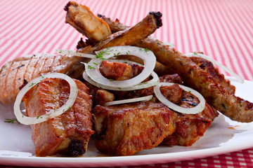 Grilled meat mix