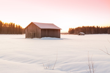 Barns In The Winter Sunrise 2