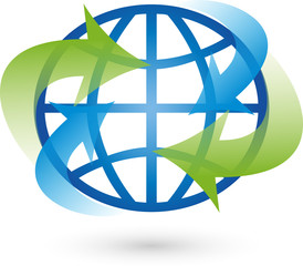 Logo, Erde, Globus, Weltkugel