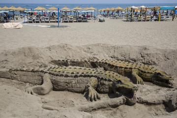 crocodile sand in Andalusia