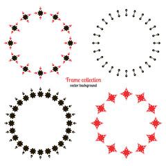 Decorative circle frame, vector elements