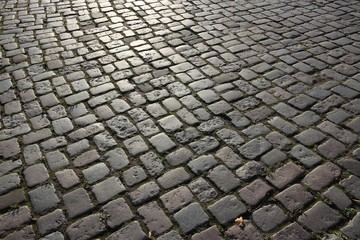 Cobbled square in Lubeck, Germany