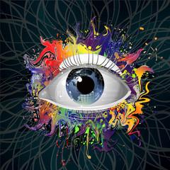 яркий абстрактный фон с оком