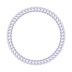 Thik silver chain - round frame.