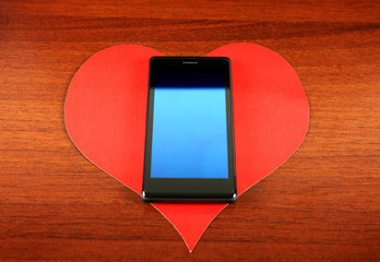 Heart Shape and Cellphone