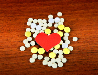 Heart Shape with the Pills