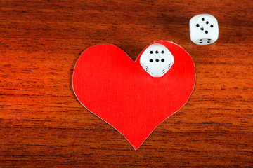 Heart Shapes and Dices