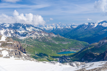 Summer view of the Grand Motte glacier