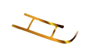 goldener Schlitten....