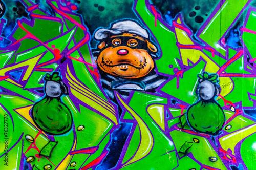 Fototapeta graffiti braqueur
