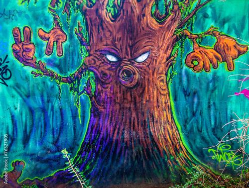 obraz lub plakat Graffiti arbre