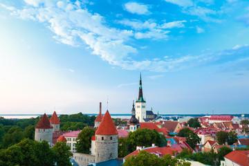 Cityscape Old City Town Tallinn In Estonia