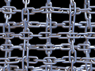 Chain on black background