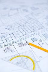 Bauplan Bleistift entwurf
