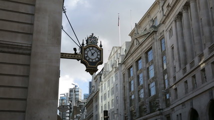 old clock and architecture near bank station london