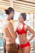 Paar im romantischen Wellness Spa