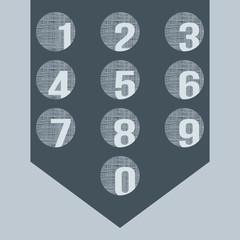 Numbers set. Vector.