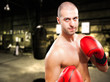 Guy with a naked torso boxing
