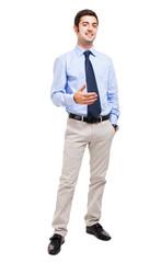 Confident full length businessman