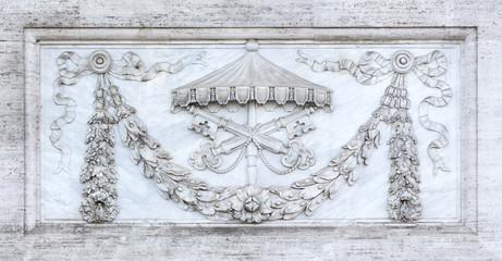 Detail of roman sculpture